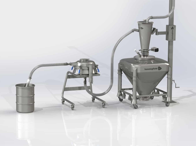 In-Line Vacuum Sieving