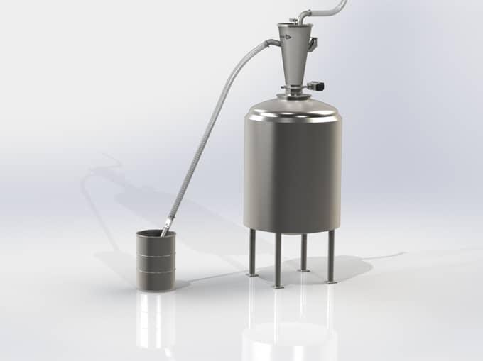 Vacuum Transfer into a Vessel